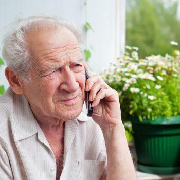 Social Care - Overcoming Loneliness - Senior Man - Elder Care - Disability