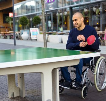 Wheelchair ping pong game - Accessible sports - Wheelchair sports - Sports for people with disabilities